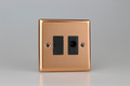 Varilight Polished Copper 13A Unswitched Fused Spur + Flex Outlet - XY6UFOB.CU